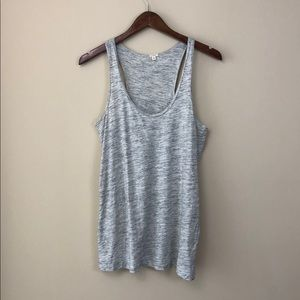 J.Crew Beige & Gray Tank Top
